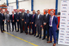 The team from ExxonMobil and Burckhardt Compression celebrate the signing of the global lubricants collaboration agreement at Burckhardt Compression's facility in Winterthur, Switzerland