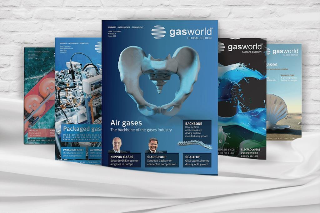 gasworld Global magazines covers 2021 covers
