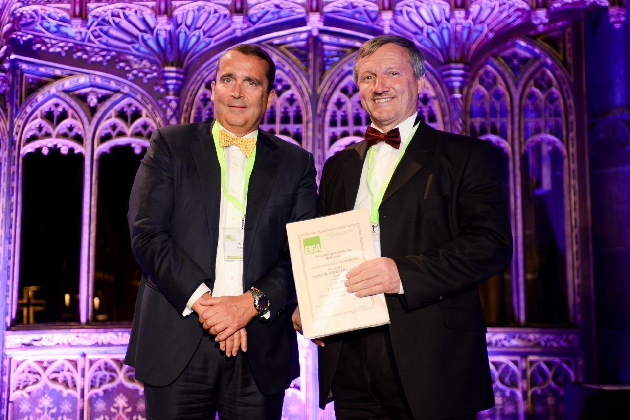 Messer Prized With 15 EIGA Safety Awards