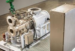 L.A. Turbine ARES Active Magnetic Bearing (AMB) Turboexpander-Compressor featuring industry's first skid-mounted AMB Control System copy