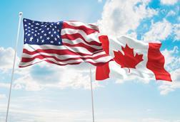 us Canada flag copyright fresh stock