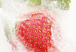 Frozen strawberries, food and beverages