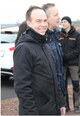 Andreas bodén, sales manager at power cell at the opening of the tank station in mariestad