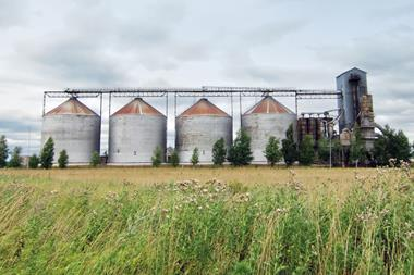 ethanol fuel plant at the countryside