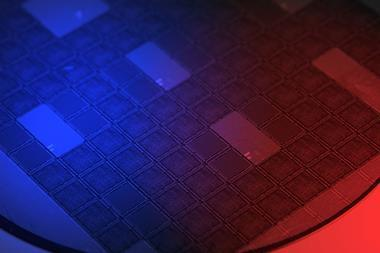 electronics wafer close up