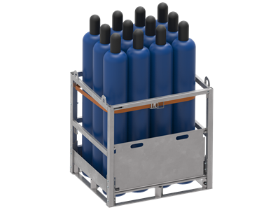 Arcom propose modular bolted cages for gas cylinder transport