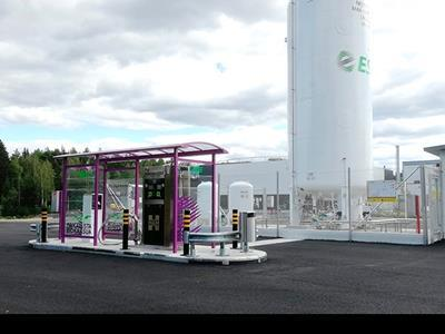 New Finland LNG station and regasification plant built by HAM
