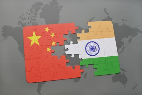 china and india break concept