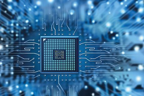 blue circuit board electronics