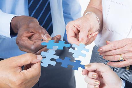 working together concept, merger, acquisition