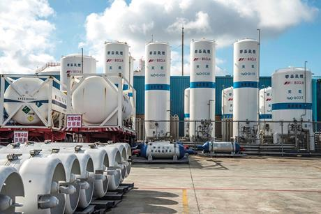 Linde Lienhwa nitrous oxide plant storage in taichung taiwan