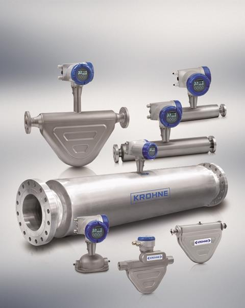 KROHNE OPTIMASS Coriolis mass flowmeters