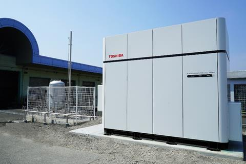 Toshiba fuel cell hydrogen system