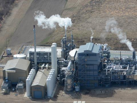 Air products saskatchewan hydrogen facility canada birdseye view
