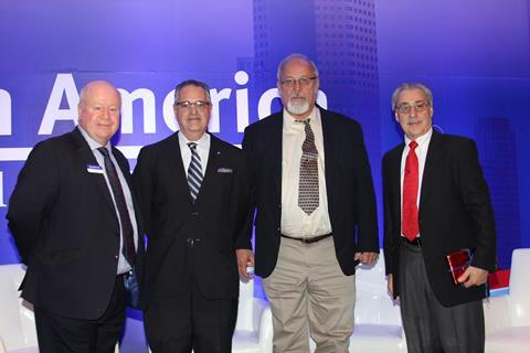 (L-R) John Raquet, CEO and Founder; Rick Kowey, Executive Vice-President & Corporate Liaison, MATHESON; Joe Bernacki, Plant Engineering, CryoVation; Ray Borzio, Managing Partner, Global Calibration Gases, LLC