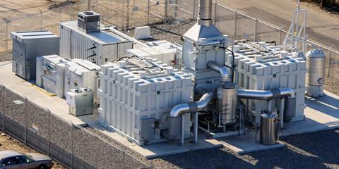 Aerial view of FCE fuel cell