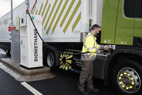Renewable biomethane CNG fuel is the most cost-effective and environmentally friendly alternative to diesel. It is 30%-40% cheaper and typically cuts vehicle carbon dioxide (CO2) emissions by up to 85%.