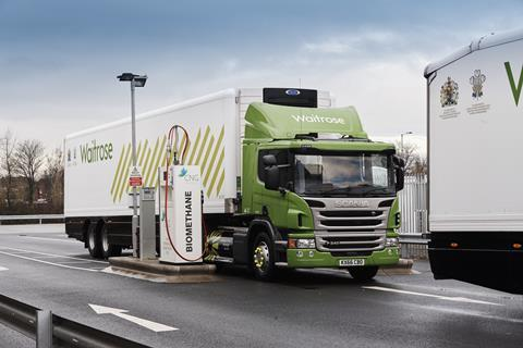 Six of the Waitrose trucks will trial clean, quiet, zero-emission electric refrigeration units powered by the CNG engine