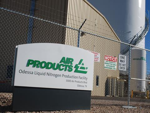 Air Products liquid nitrogen facility in Odessa, TX