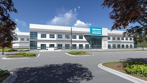 The new facility in Rock Hill, US