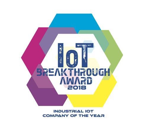 io t breakthrough award badge 2018 emerson