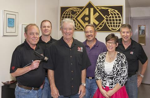 CK Worldwide management team: L - R: Jeff Sharpe (President), Aaron Walsberg (VP of Operations), Art Kleppen (Owner/Founder), Dave Cummins (VP of Finance), Bonnie Sims (Corporate Secretary/Treasurer), Mike Meyer (VP of Sales and Marketing).