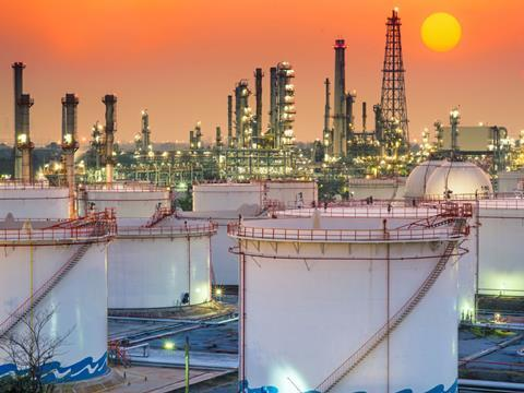 Oil-fuel-refinery-sunset
