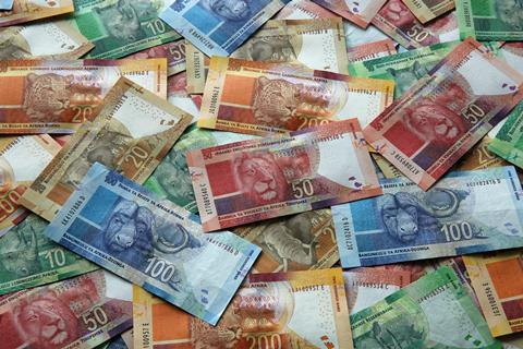 South african rand currency money finance financial