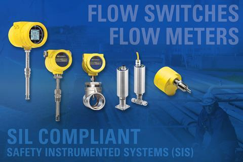 FCI SIL compliant thermal flow meters