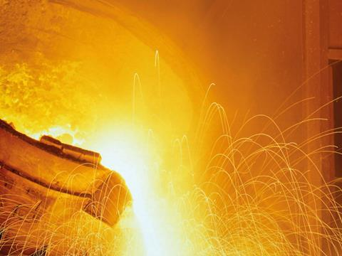 Metals, Glowing-molten-hot-steel