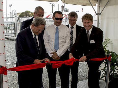 Boc co2 nz plant ribbon cutting