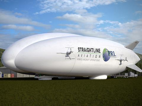Straightline hybrid airship