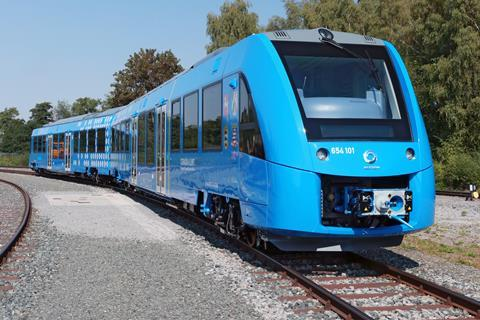 Alstom hydrogen powered passenger train 3