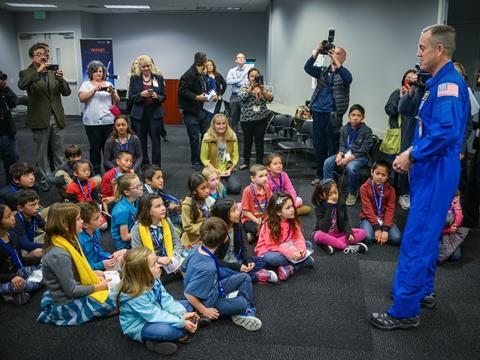 Meggitt visit from nasa astronaut