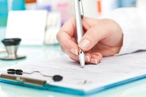 Medical form healthcare compliance