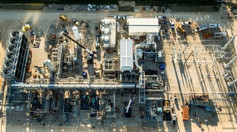A demonstration power plant run by NET Power in Houston, Texas, uses carbon dioxide to drive the turbine that generates electricity.