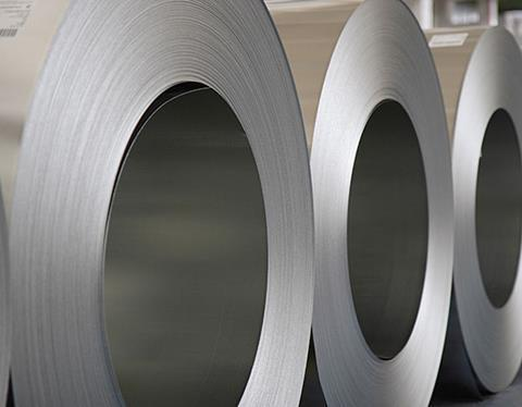 Zinc coated metal