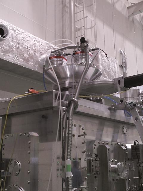 HiPace turbopumps installed at XFEL