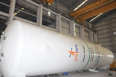 Inoxcva delivers nitrogen tanks to isro