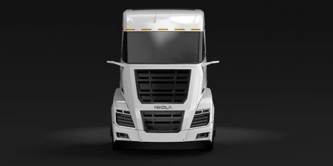 The Nikola Two fuel cell truck.