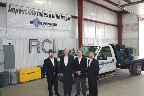 (L-R): Chris Duffy, Mike Duffy Sr., Mike Duffy Jr. and Michael 'Trey' Duffy III at the newly constructed RCI fabrication facility in Dwight, Illinois.