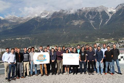 The ionicon team celebrating its 300th sold ptr ms instrument