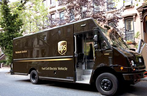 Ups fcev delivery vehicle
