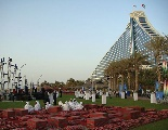 The view from the front of the Jumeirah Beach Hotel