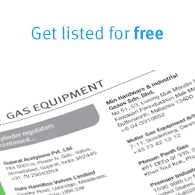 Get listed in the North American Industrial Gas Buyers Guide